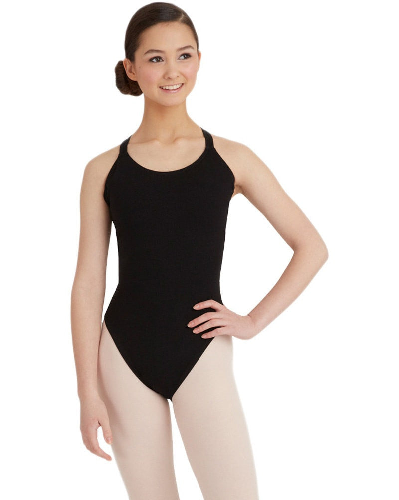 Capezio Double Strap Cross Back Camisole Leotard - CC123C Girls - Dancewear - Bodysuits & Leotards - Dancewear Centre Canada