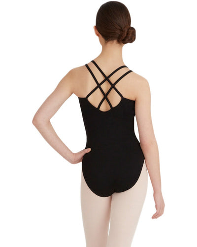 Capezio CC123C - Double Strap Cross Back Camisole Leotard Girls - Dancewear - Bodysuits & Leotards - Dancewear Centre Canada