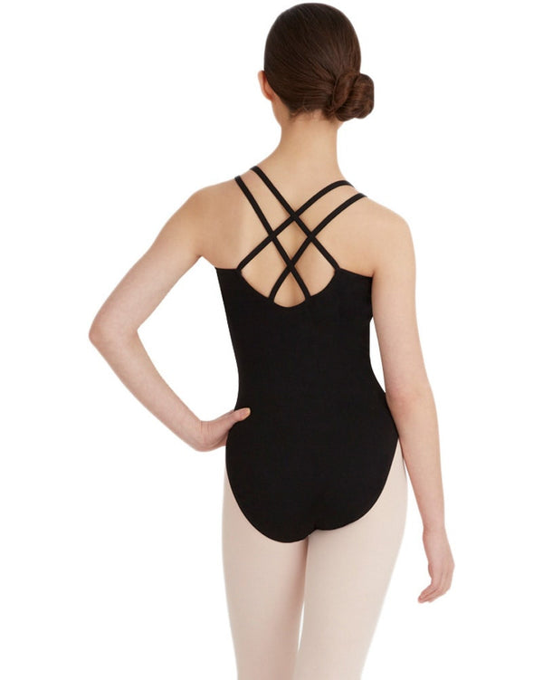Capezio CC123 - Double Strap Cross Back Camisole Leotard Womens - Dancewear - Bodysuits & Leotards - Dancewear Centre Canada