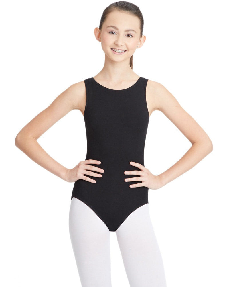 Capezio Classic High Neck Tank Leotard - CC201C Girls - Dancewear - Bodysuits & Leotards - Dancewear Centre Canada