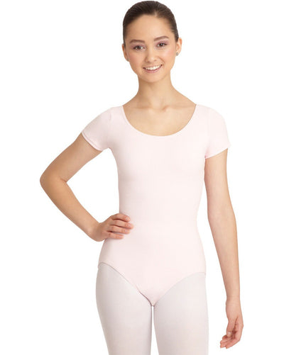 Capezio CC400C - Classic Cotton Short Sleeve Leotard Girls - Dancewear - Bodysuits & Leotards - Dancewear Centre Canada