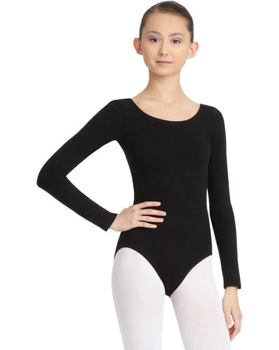 Capezio CC450C - Classic Cotton Long Sleeve Leotard Girls - Dancewear - Bodysuits & Leotards - Dancewear Centre Canada
