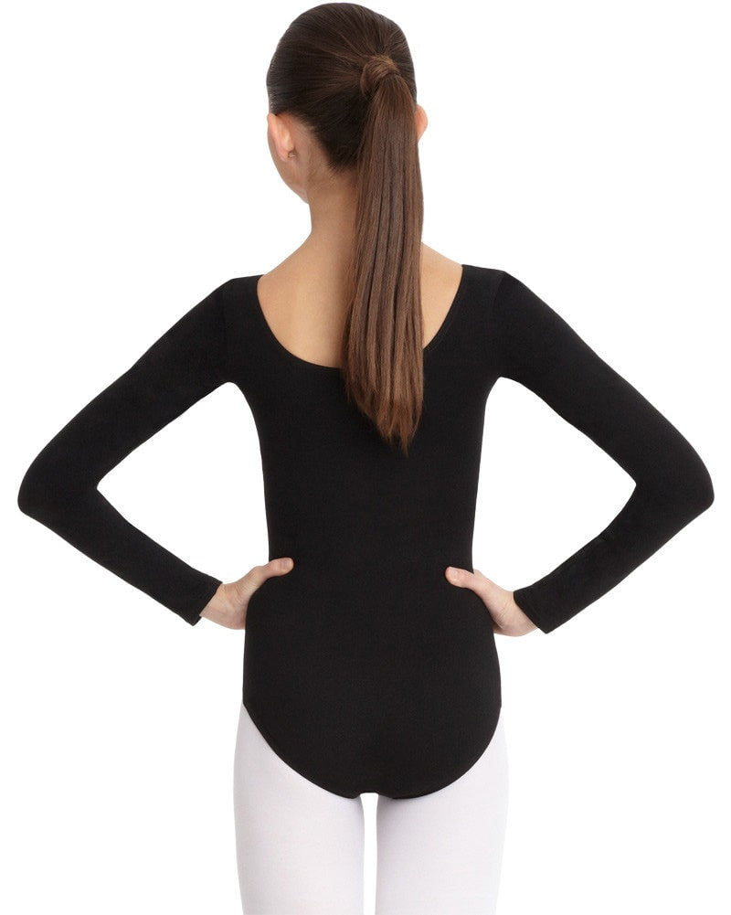 Capezio Classic Cotton Long Sleeve Leotard - CC450C Girls - Dancewear - Bodysuits & Leotards - Dancewear Centre Canada