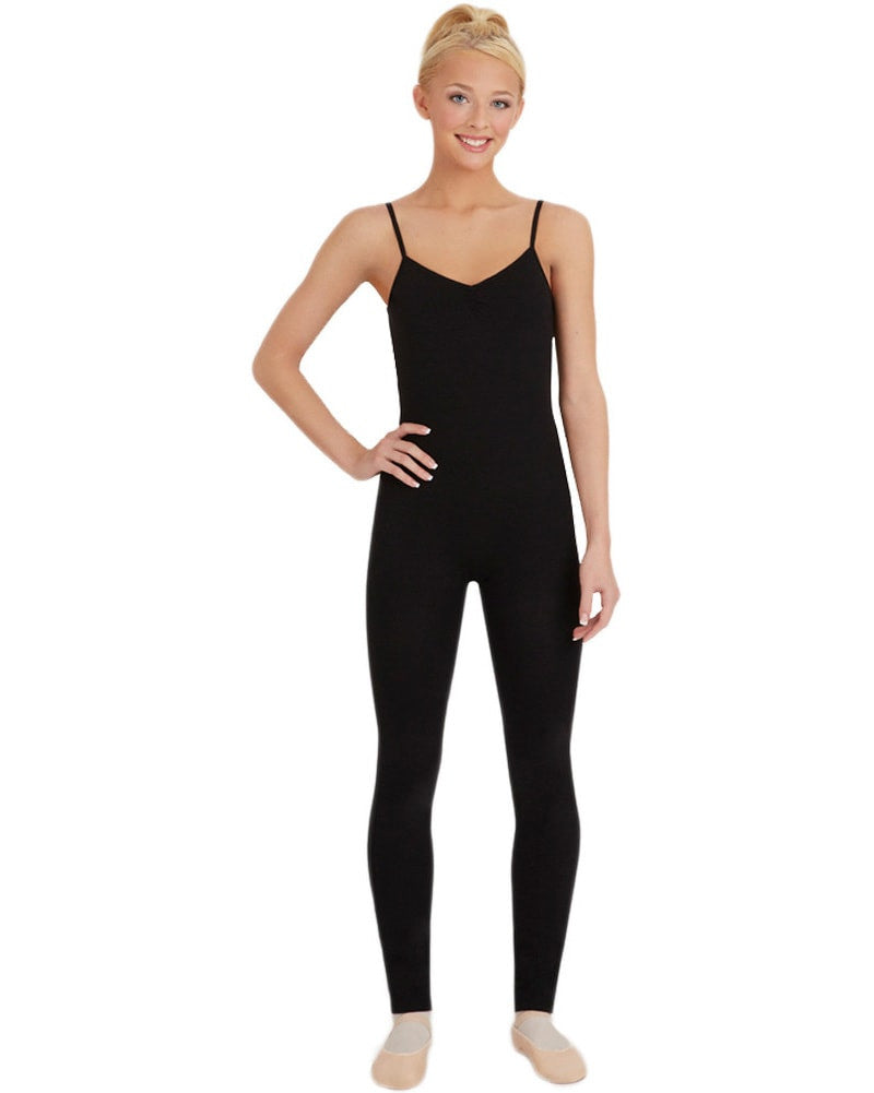 Capezio Adjustable Strap Pinched Front Unitard - CC820 Womens - Dancewear - Bodysuits & Leotards - Dancewear Centre Canada