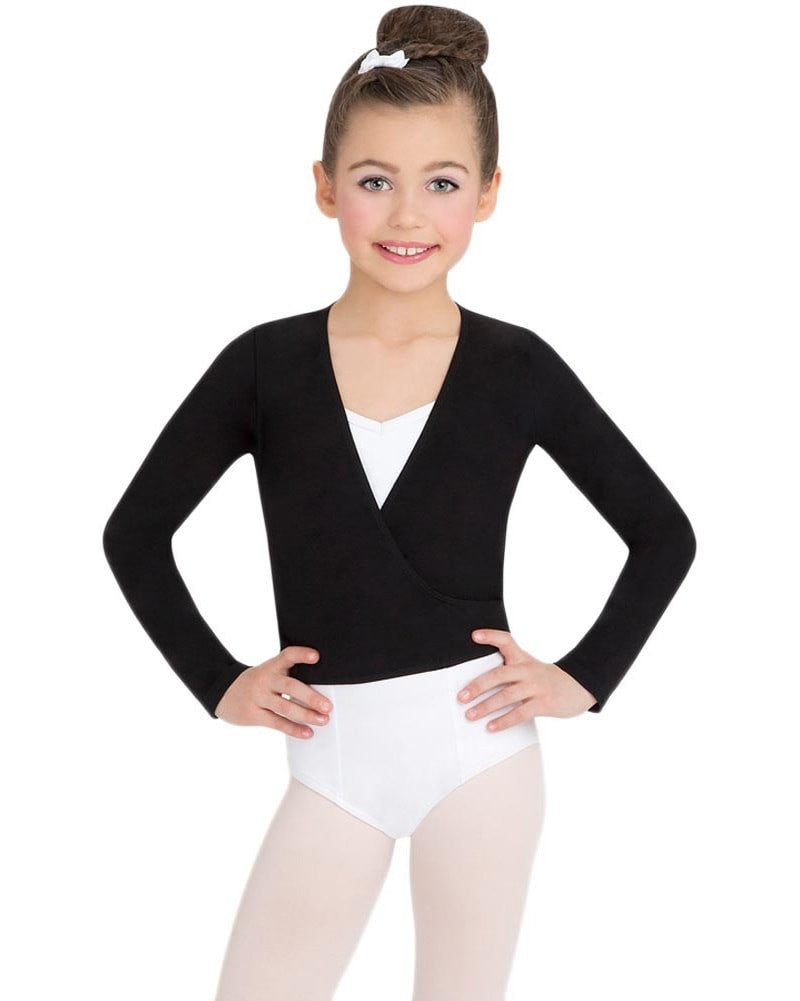 Capezio Classic Long Sleeve Wrap Top - CC850C Girls - Dancewear - Tops - Dancewear Centre Canada