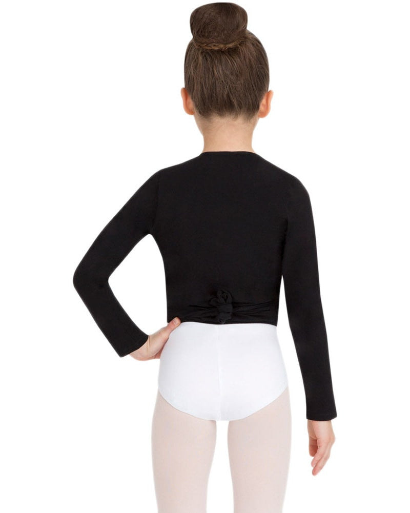 Capezio CC850C - Classic Long Sleeve Wrap Top Girls - Dancewear - Tops - Dancewear Centre Canada