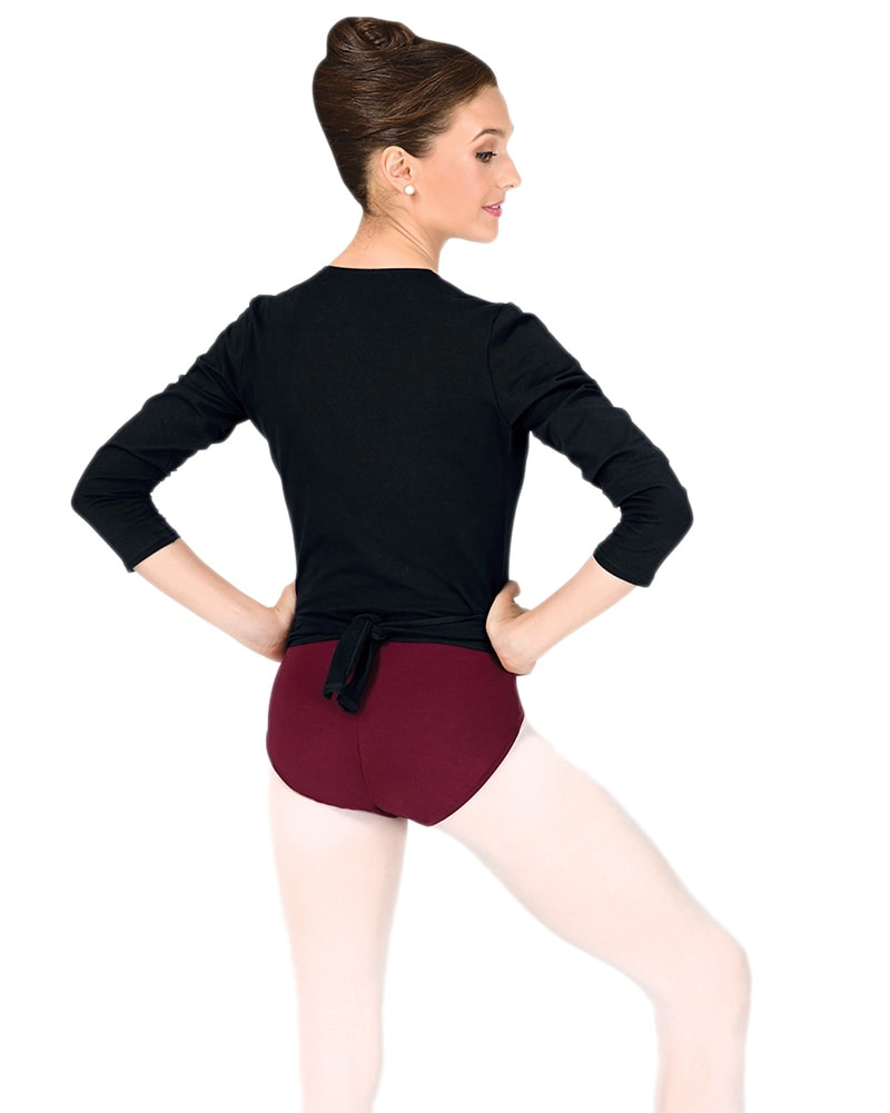 Capezio Classic Long Sleeve Wrap Top - CC850 Womens - Dancewear - Tops - Dancewear Centre Canada