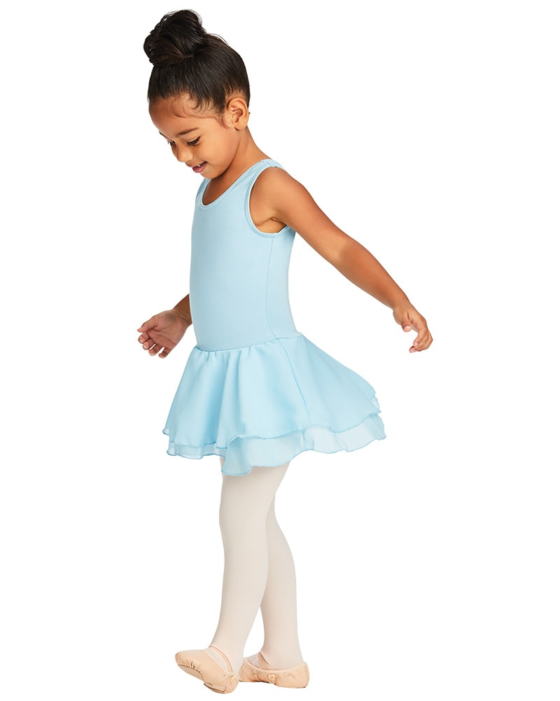Capezio Double Layer Skirt Cotton Tank Ballet Dress - CC877C Girls - Dancewear - Dresses - Dancewear Centre Canada