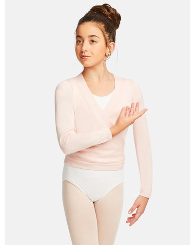 Capezio CK10949C - Wrap Knit Sweater Girls - Dancewear - Warmups - Dancewear Centre Canada