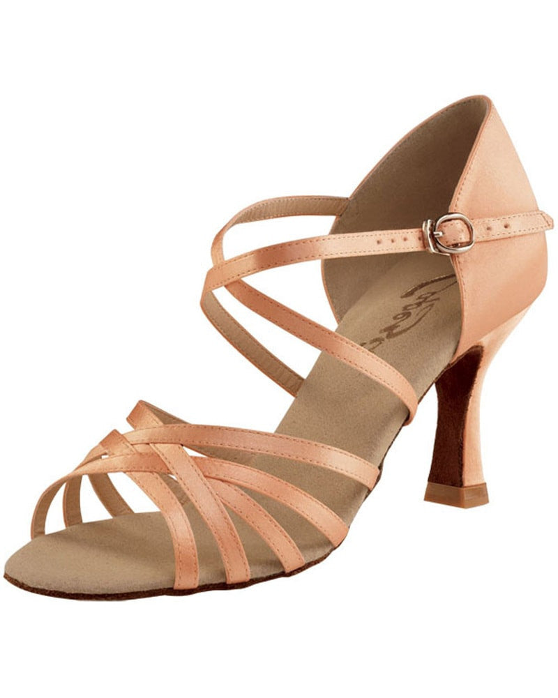 TRIWORIAE-Women Dance Shoes Jazz Latin Ballroom Standard Modern Dance Shoes Lace-Up Closed-Toes