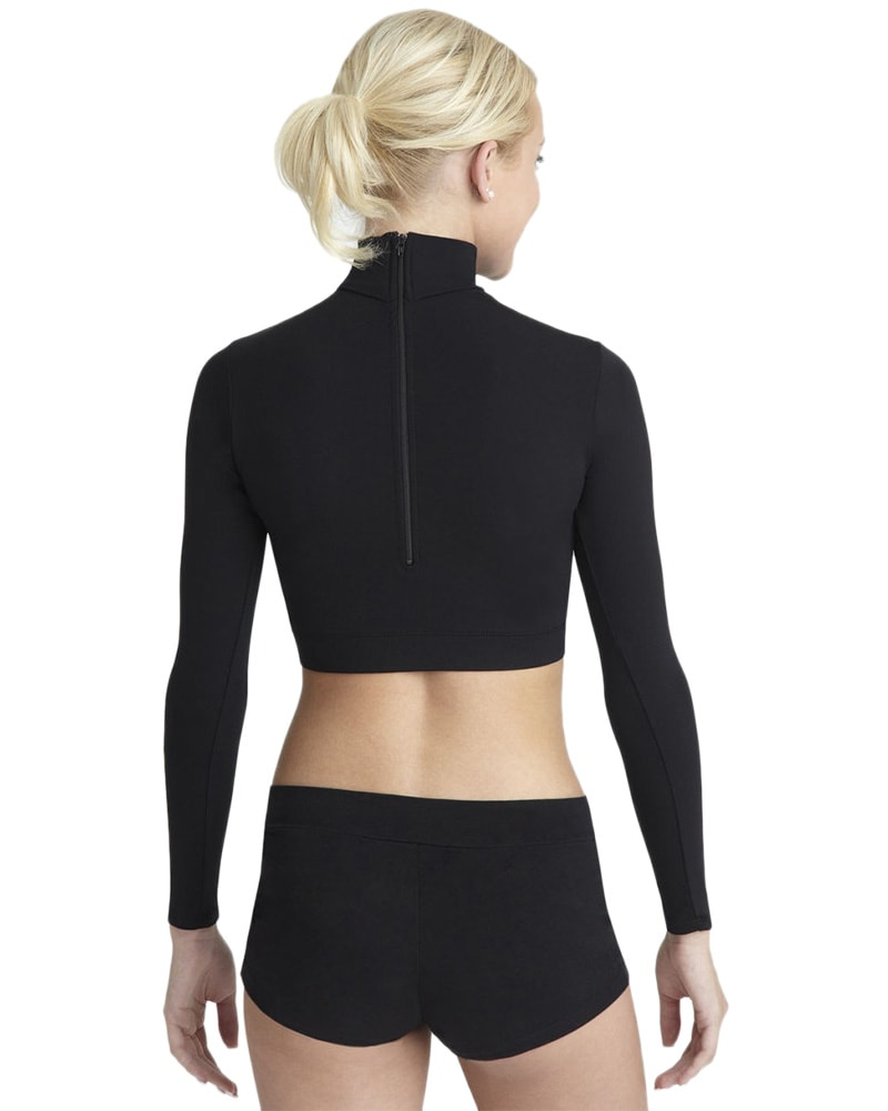 Capezio Team Basic Turtleneck Long Sleeve Crop Top - TB107C Girls - Dancewear - Tops - Dancewear Centre Canada