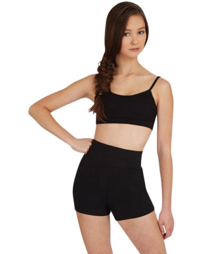 Capezio Team Basic High Waisted Dance Shorts - TB131 Womens - Dancewear - Bottoms - Dancewear Centre Canada