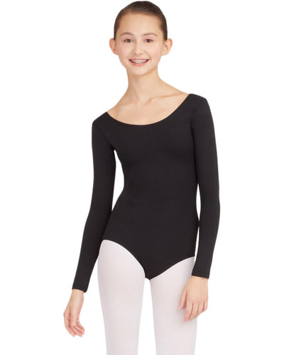 Capezio TB134C - Team Basic Long Sleeve Leotard Girls - Dancewear - Bodysuits & Leotards - Dancewear Centre Canada