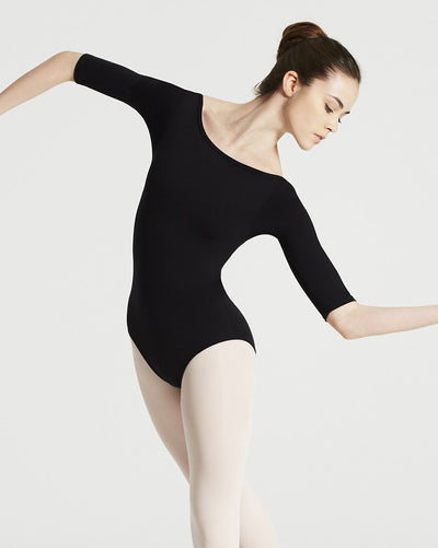 Capezio TB243W - Team Basic Boatneck 3/4 Sleeve Leotard Womens - Dancewear - Bodysuits & Leotards - Dancewear Centre Canada