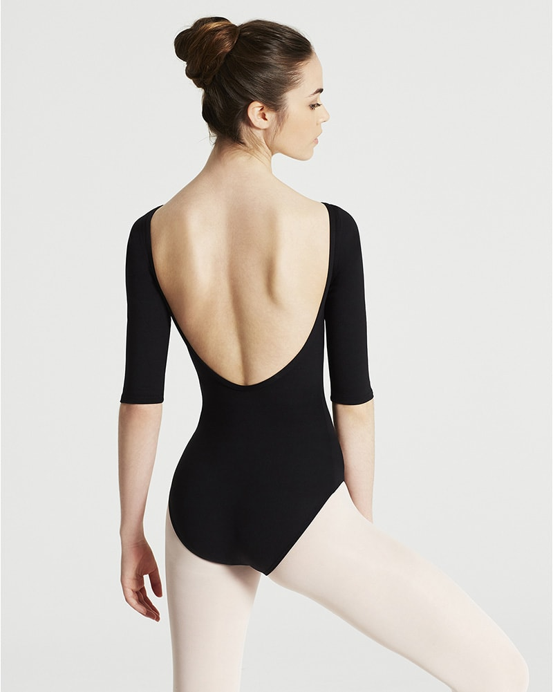 Capezio Team Basic Boatneck 3/4 Sleeve Leotard - TB243W Womens - Dancewear - Bodysuits & Leotards - Dancewear Centre Canada