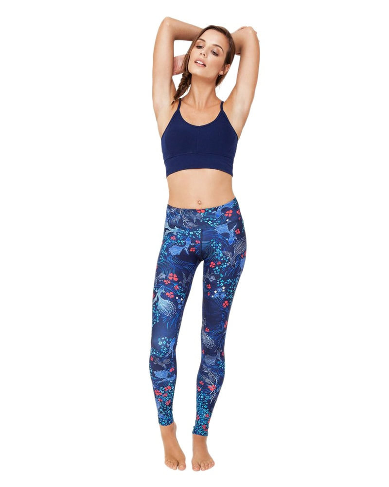 Dharma Bums High Waist Legging - Womens - Japanese Story Print - Activewear - Bottoms - Dancewear Centre Canada
