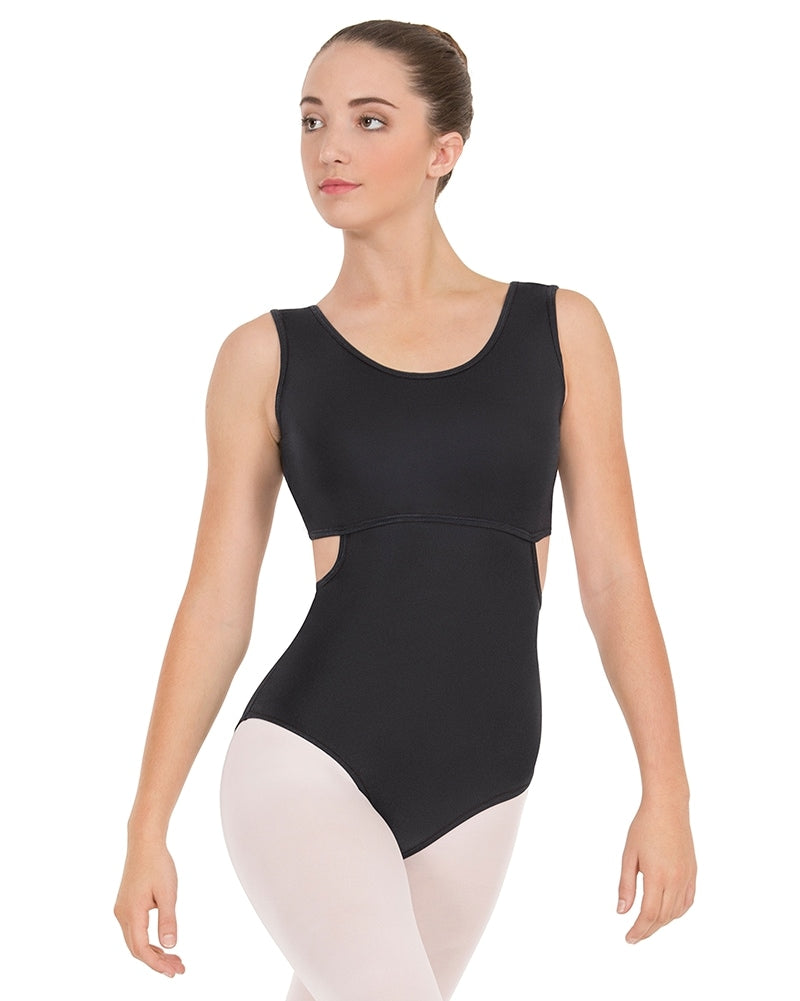Eurotard Striped Satin Mesh Tank Leotard - 61752 Womens - Dancewear - Bodysuits & Leotards - Dancewear Centre Canada