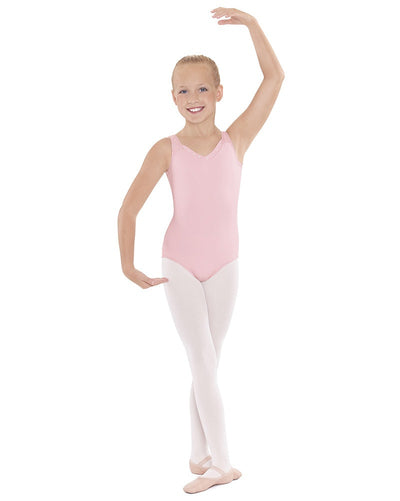 Eurotard 33916C - Crystal Accent V-Neck Sleeveless Leotard Girls - Dancewear - Bodysuits & Leotards - Dancewear Centre Canada