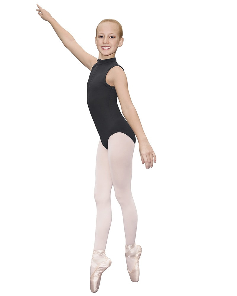Eurotard Zip Front Sleeveless Leotard - 44518C Girls - Dancewear - Bodysuits & Leotards - Dancewear Centre Canada
