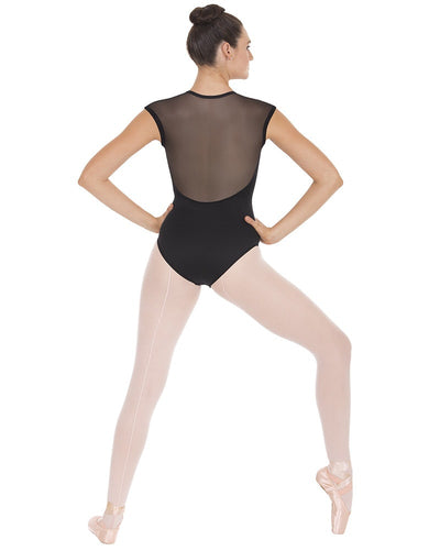 Eurotard 44818 - Stretch Mesh Back Short Sleeve Leotard Womens - Dancewear - Bodysuits & Leotards - Dancewear Centre Canada