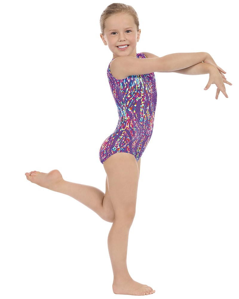 Eurotard 4789 - Under The Sea Print Gymnastic Tank Leotard Girls - Dancewear - Gymnastics - Dancewear Centre Canada