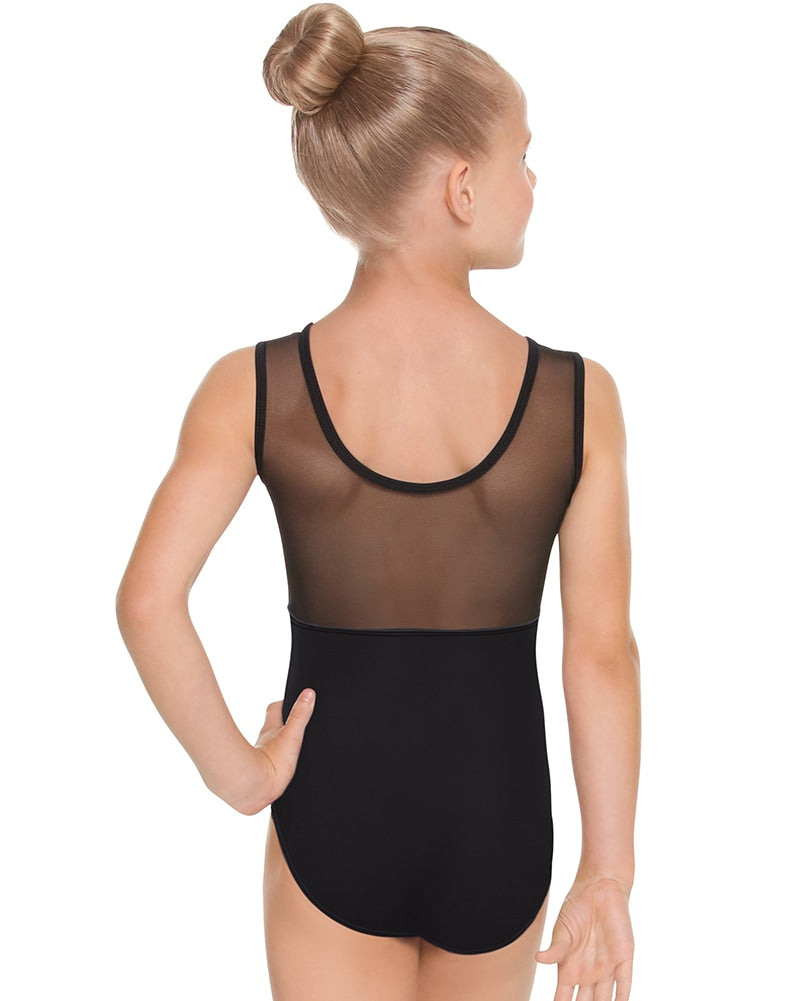 Eurotard Mesh Back Tank Leotard - 44586C Girls - Dancewear - Bodysuits & Leotards - Dancewear Centre Canada