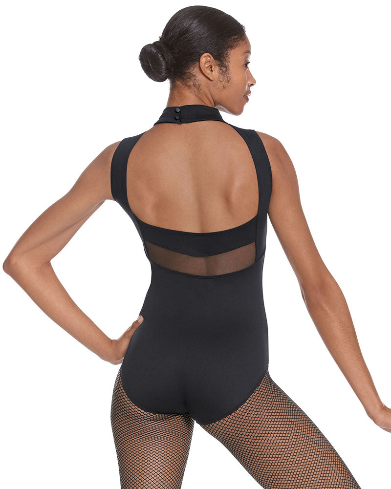 Eurotard Silhouette Mesh Insert Mock Neck Sleeveless Leotard - 41596 Womens - Dancewear - Bodysuits & Leotards - Dancewear Centre Canada