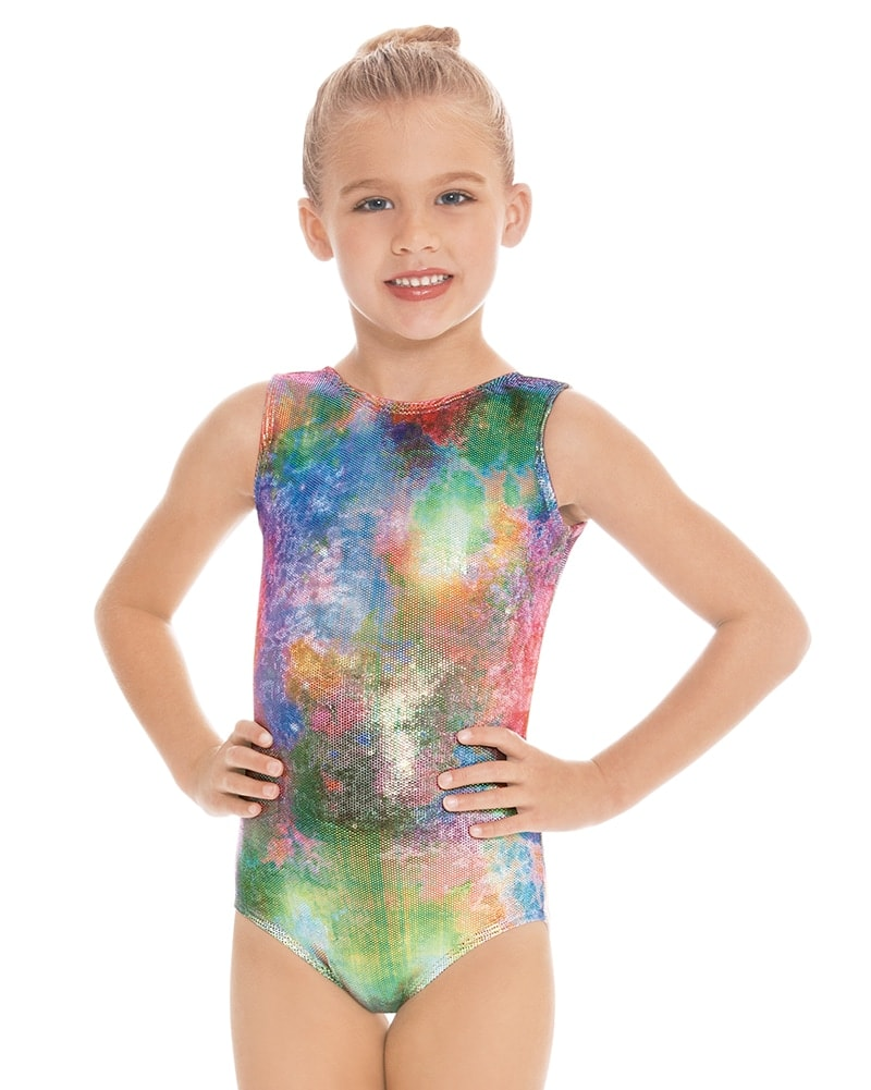 Eurotard Soft Metallic Gymnastic Tank Leotard - 7689 Girls - Mermaid Print