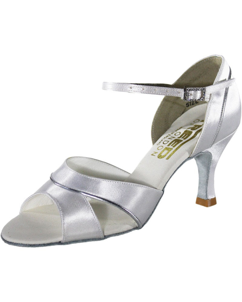 "Freed Of London Soroya Open Toe Satin 2.5"" Latin Ballroom Shoes - Womens - Dance Shoes - Ballroom & Salsa Shoes - Dancewear Centre Canada"
