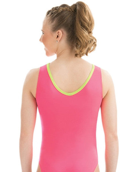GK Elite Jewelled Gymnastic Tank Leotard - 3751 Womens - Watermelon Crush Print - Dancewear - Gymnastics - Dancewear Centre Canada