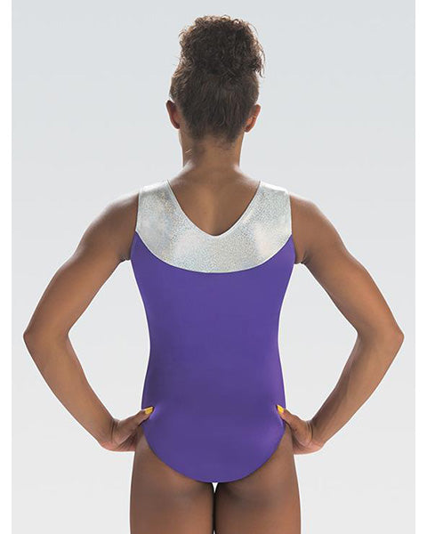 GK Elite Jewelled Gymnastic Tank Leotard - E3806 Womens - Dance All Day Print - Dancewear - Gymnastics - Dancewear Centre Canada