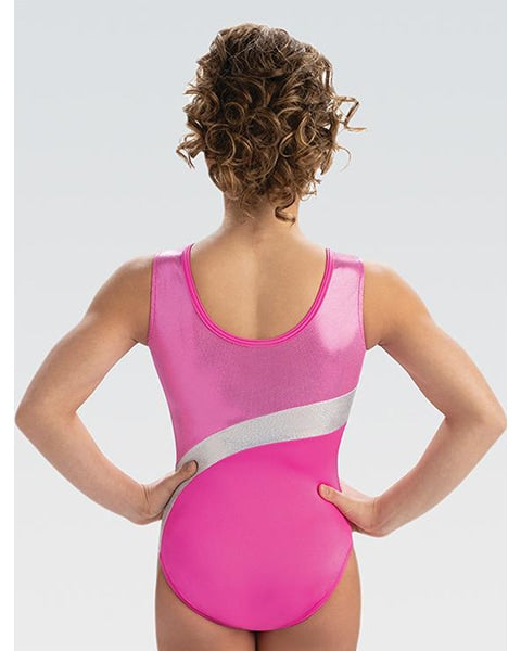 GK Elite Jewelled Gymnastic Tank Leotard - E3866 Womens - Candy Shimmer Print - Dancewear - Gymnastics - Dancewear Centre Canada