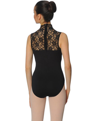 Gaynor Minden Belle Epoch High Neck Lace Sleeveless Leotard - Womens - Dancewear - Bodysuits & Leotards - Dancewear Centre Canada
