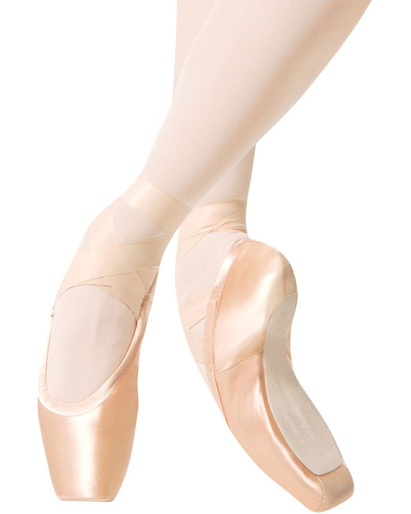 Gaynor Minden Sleek Fit Pointe Shoes - Extra Flex Shank Deep Vamp Low Heel - Womens
