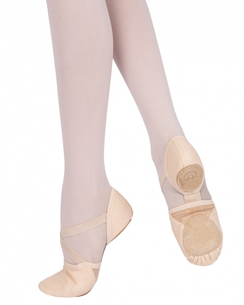 Grishko 1010C - Model 10 Stretch Arch Canvas Split Sole Ballet Slippers Womens