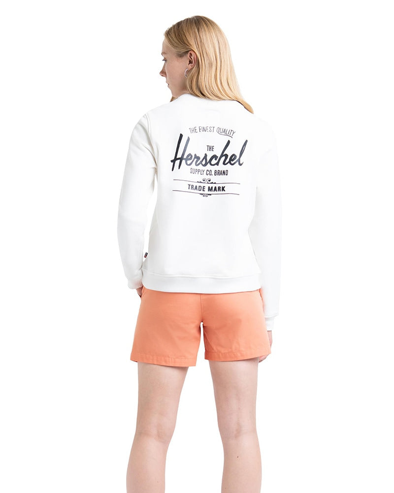 Herschel Supply Co Classic Logo Crewneck Sweatshirt - Womens - Black/White - Dancewear - Tops - Dancewear Centre Canada