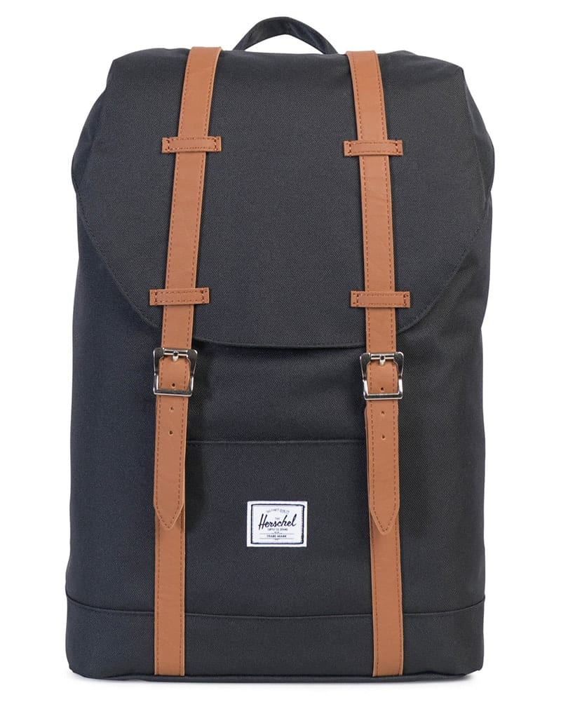 Herschel Supply Co Retreat Backpack - Black/Tan - Accessories - Dance Bags - Dancewear Centre Canada
