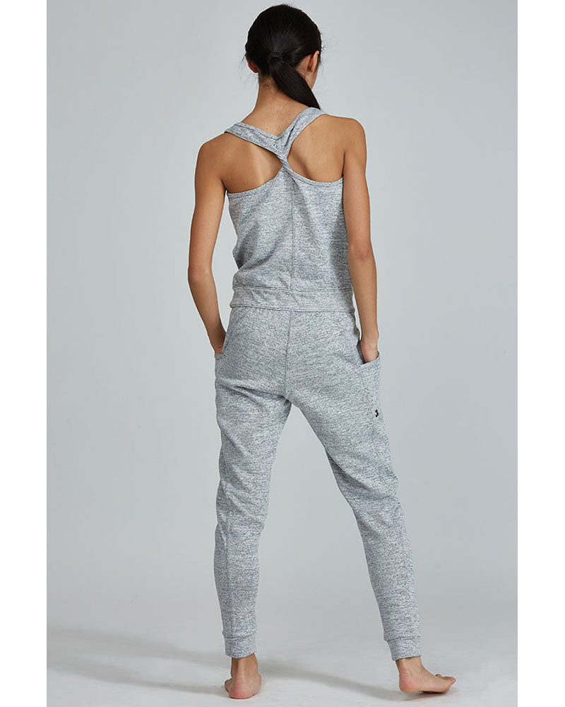 Jo+Jax Laid Back Romper - Womens - Grey Heather - Dancewear - Warmups - Dancewear Centre Canada