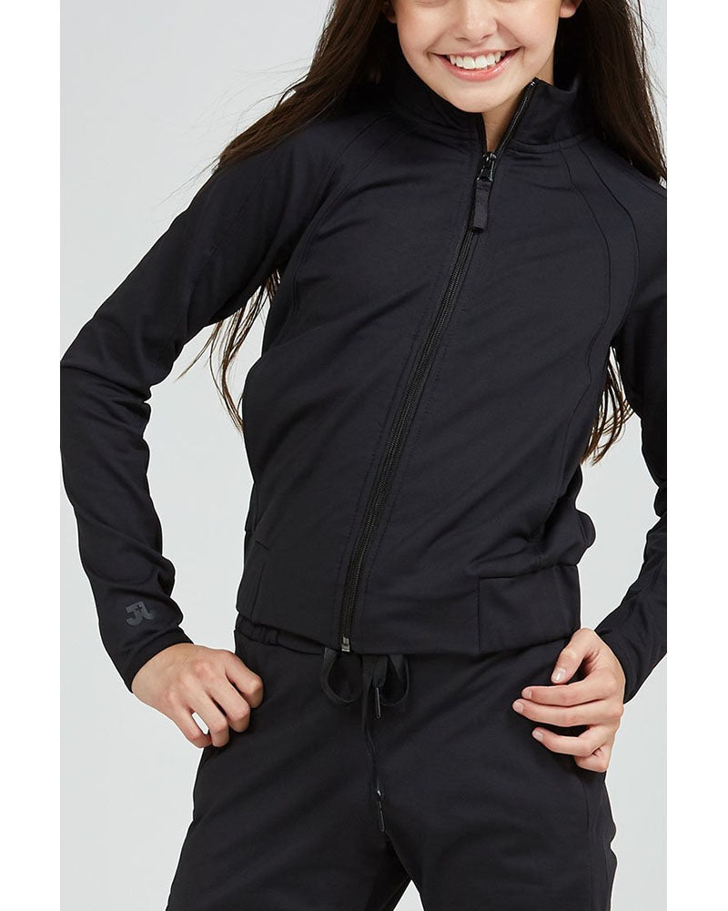 Jo+Jax Lightspeed Jacket - Girls - Black - Dancewear - Tops - Dancewear Centre Canada