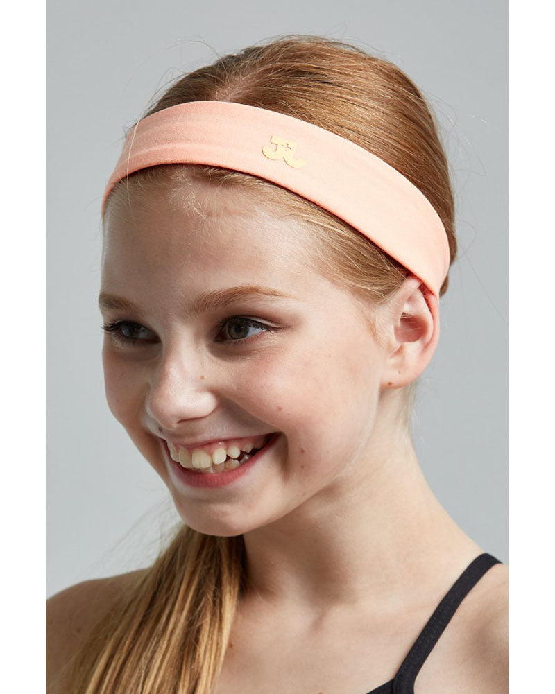 Jo+Jax No Sweat Headband - Girls/Womens - Bright Peach - Accessories - Hair Care - Dancewear Centre Canada