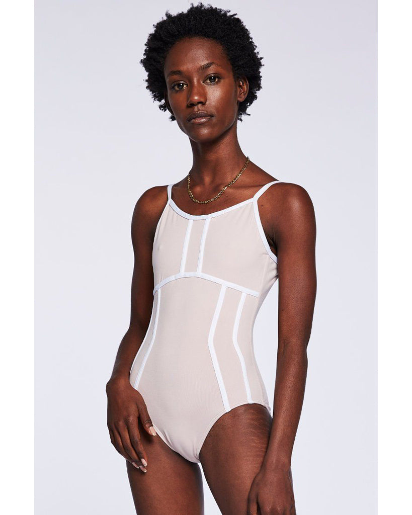 Jo+Jax Triple Threat Camisole and Cap Sleeve Leotard - Womens - Pink Sand/White - Dancewear - Bodysuits & Leotards - Dancewear Centre Canada