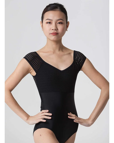 Jule Dancewear Cabochon - Dot Mesh Short Sleeve Leotard Womens - Dancewear - Bodysuits & Leotards - Dancewear Centre Canada