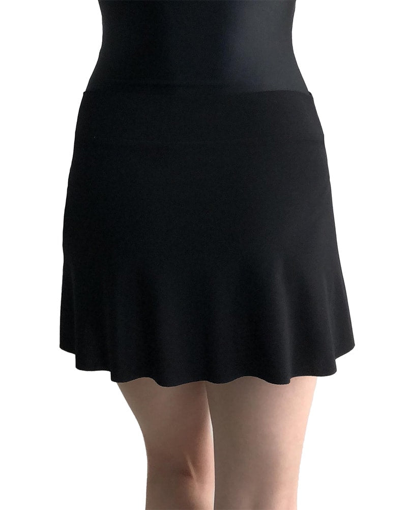 Jule Dancewear PS4 - Mock Wrap Petal Pull On Skirt Womens Black - Dancewear - Skirts - Dancewear Centre Canada