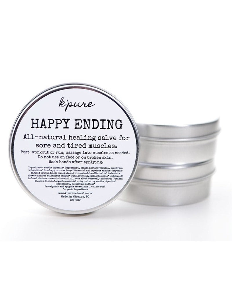 K'pure Naturals Happy Ending Muscle Salve 4 oz - Accessories - Body Care - Dancewear Centre Canada