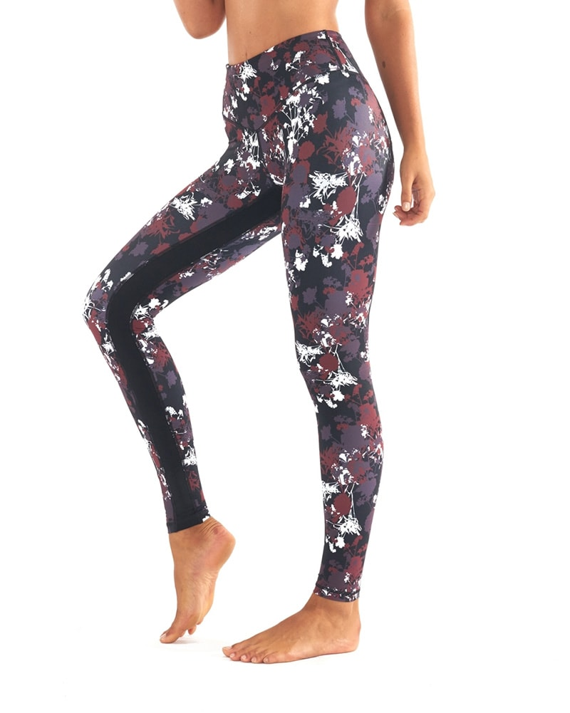 L'urv Full Length Legging Womens -  Confetti Dreams Fig Print - Activewear - Bottoms - Dancewear Centre Canada