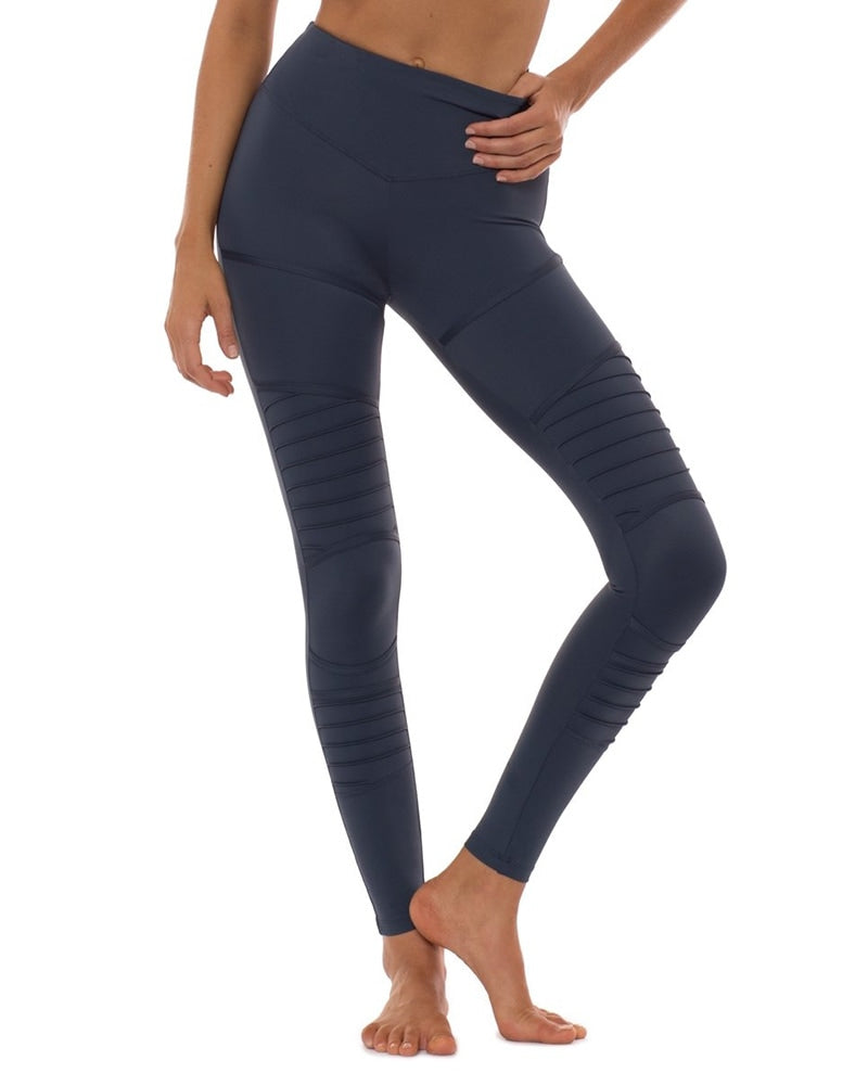 L'urv Little Love Moto Legging - Womens - Teal