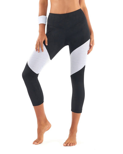 L'urv Race Ready 3/4 Legging - Womens - Black/White - Activewear - Bottoms - Dancewear Centre Canada