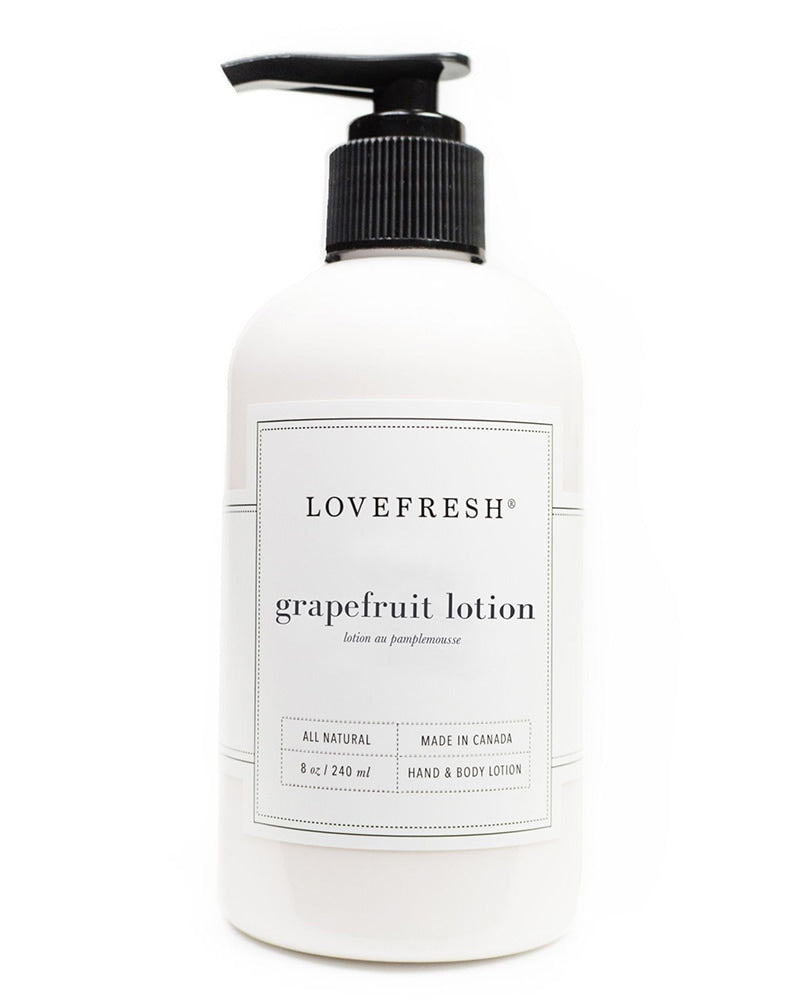 Lovefresh All-Natural Grapefruit Hand & Body Lotion 8oz