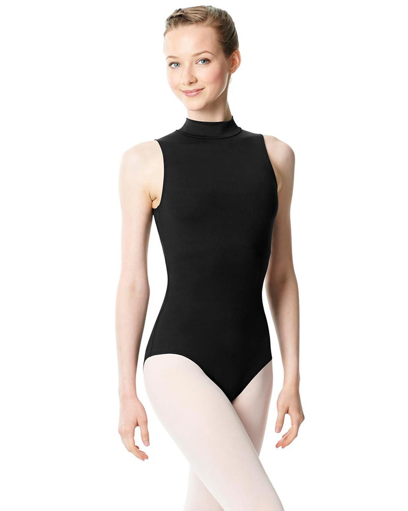 Lulli Dancewear Anna Turtleneck Keyhole Low Back Sleeveless Leotard - LUB253 Womens