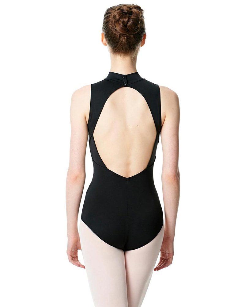 Lulli Dancewear Anna LUB253 - Turtleneck Key Hole Back Sleeveless Leotard Womens